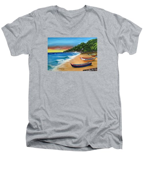 Crashboat Beach Wonder Men's V-Neck T-Shirt