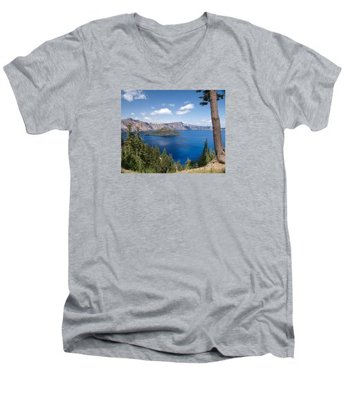 Crater Lake National Park Men's V-Neck T-Shirt by Diane Schuster