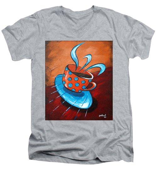 Crazy Coffee Men's V-Neck T-Shirt