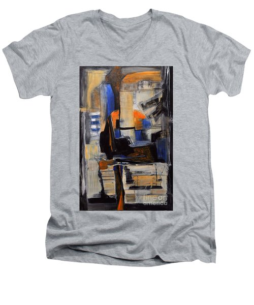 Crazy Legs Men's V-Neck T-Shirt by Glory Wood