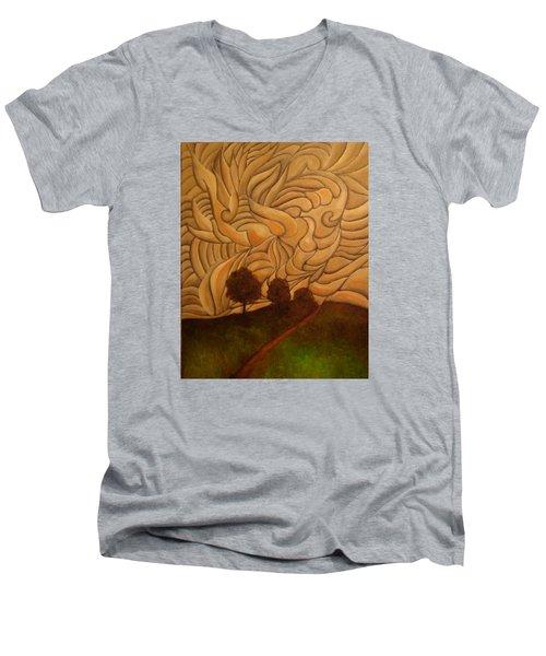 Crazy Sky Men's V-Neck T-Shirt by John Stuart Webbstock