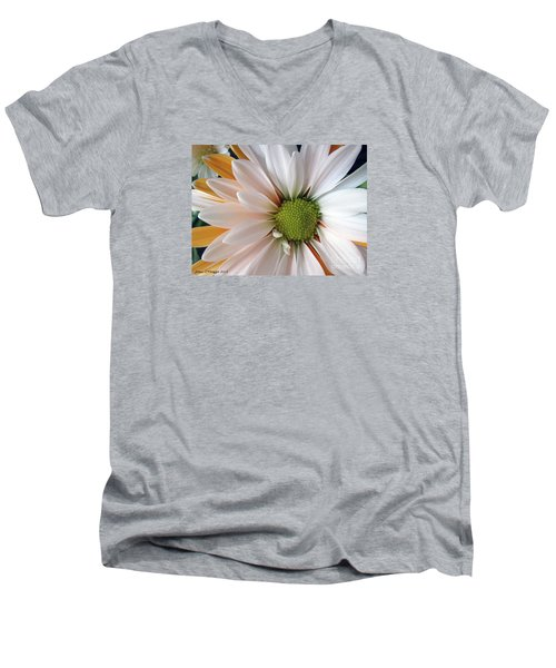 Men's V-Neck T-Shirt featuring the photograph Creamsicle by Jean OKeeffe Macro Abundance Art