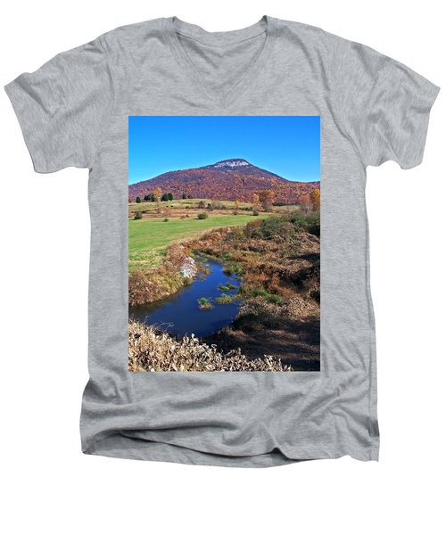 Creek In The Valley Men's V-Neck T-Shirt