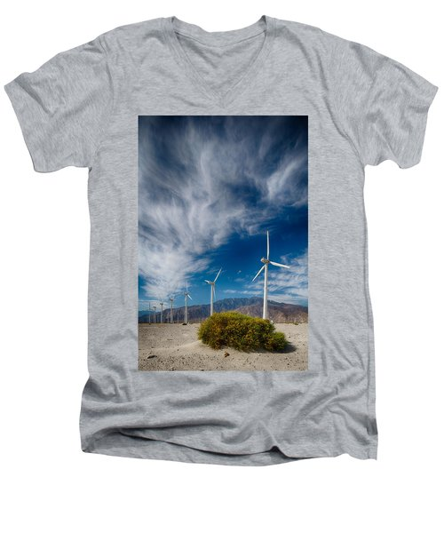 Creosote And Wind Turbines Men's V-Neck T-Shirt