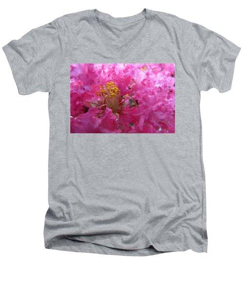 Crepe Myrtle In The Middle Men's V-Neck T-Shirt
