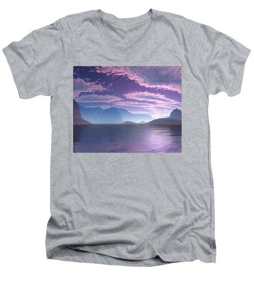Crescent Bay Alien Landscape Men's V-Neck T-Shirt
