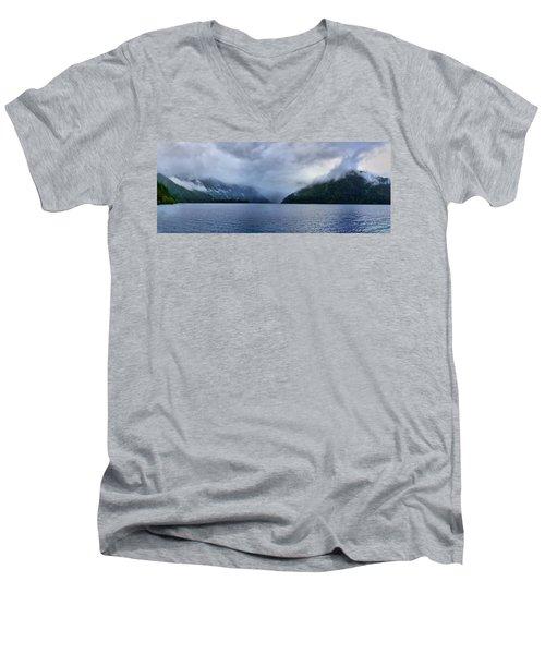 Crescent Lake Men's V-Neck T-Shirt