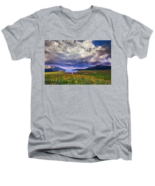 Crested Butte Morning Storm Men's V-Neck T-Shirt