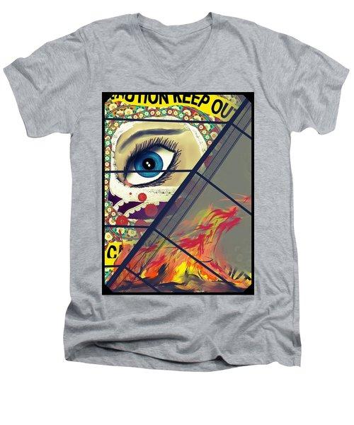 Crime Scene Men's V-Neck T-Shirt