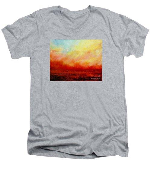Crimson Men's V-Neck T-Shirt