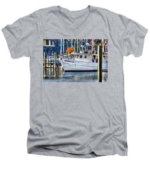Crimson Tide In Harbor Men's V-Neck T-Shirt