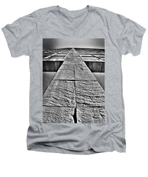 Cross Men's V-Neck T-Shirt by Mark Alder