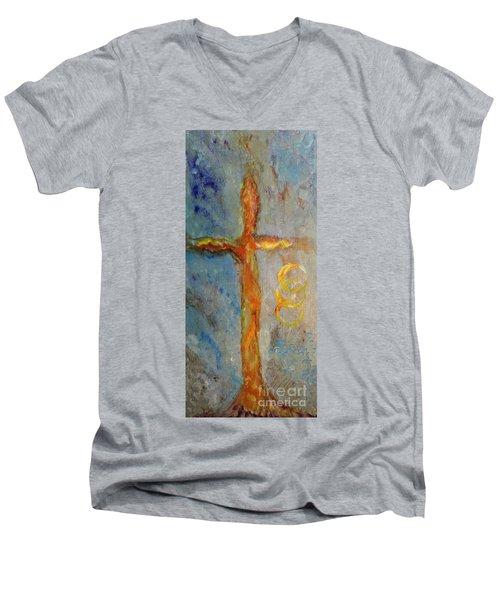 Cross Of Endless Love Men's V-Neck T-Shirt