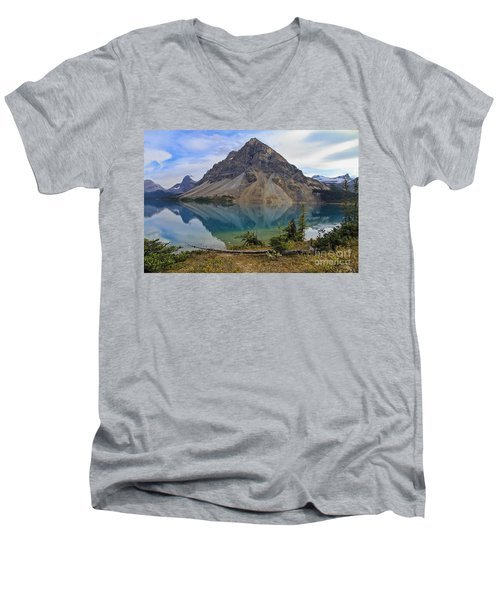 Crowfoot Mountain Banff Np Men's V-Neck T-Shirt