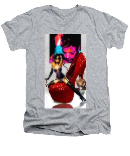 Cruela Soft White Men's V-Neck T-Shirt