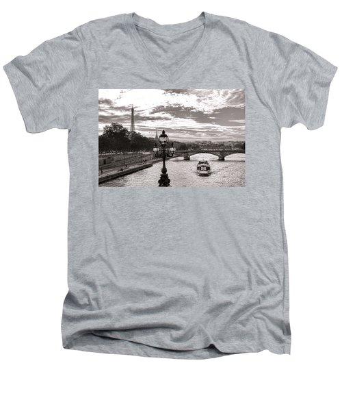 Cruise On The Seine Men's V-Neck T-Shirt