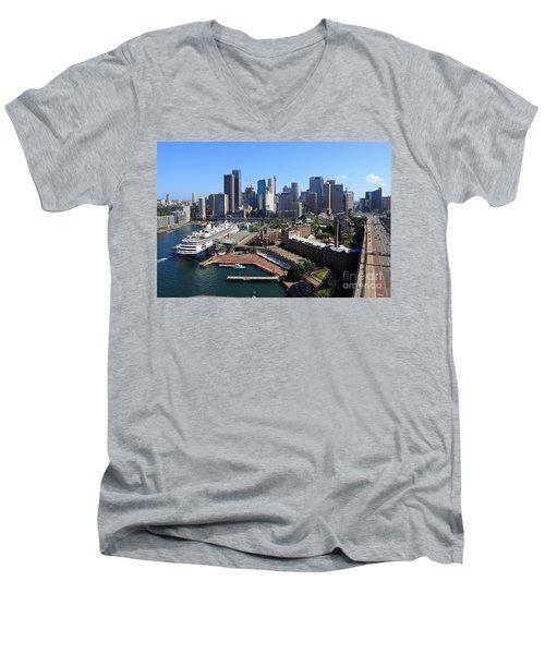 Cruiser Ship In Sydney Men's V-Neck T-Shirt