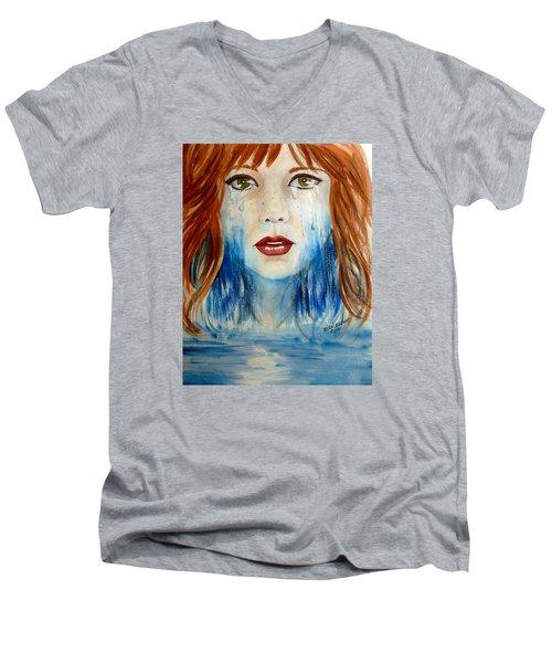 Crying A River Men's V-Neck T-Shirt