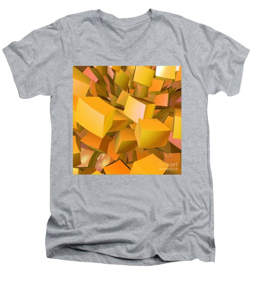 Cubist Melon Burst By Jammer Men's V-Neck T-Shirt