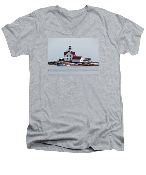 Cuckholds Lighthouse Men's V-Neck T-Shirt