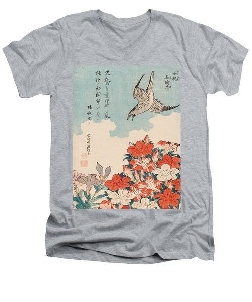 Cuckoo And Azaleas Men's V-Neck T-Shirt