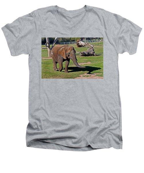 Cuddles Searching For Snacks Men's V-Neck T-Shirt