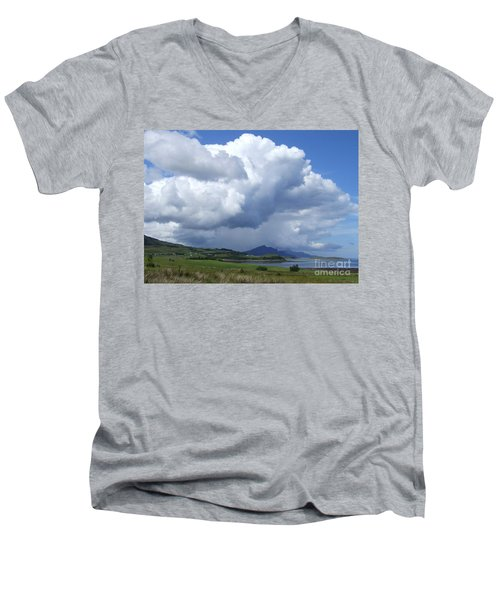Cumulus Clouds - Isle Of Skye Men's V-Neck T-Shirt by Phil Banks