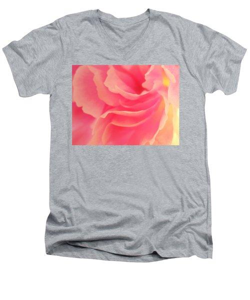 Curling Blossom Men's V-Neck T-Shirt