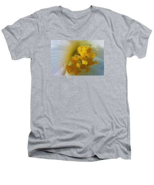 Men's V-Neck T-Shirt featuring the photograph Curly by Wendy Wilton