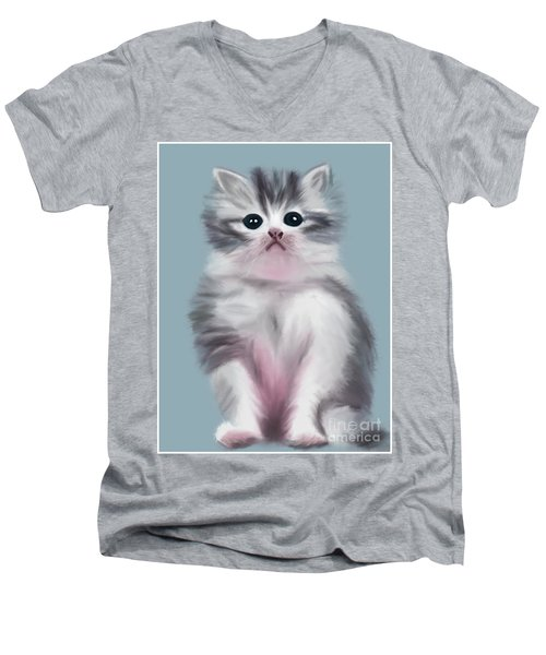 Cute Kitten Men's V-Neck T-Shirt