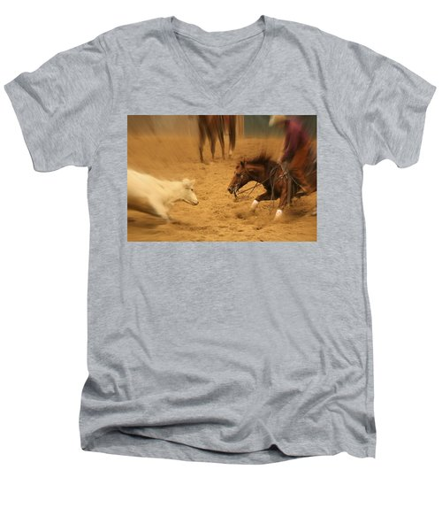 Cutting Horse 8 Men's V-Neck T-Shirt