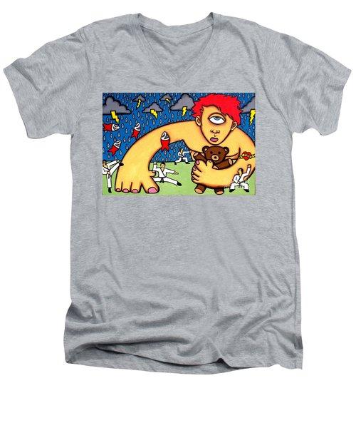Cyclops I Want To Sleep Men's V-Neck T-Shirt by Thomas Valentine