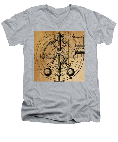 Cyclotron Men's V-Neck T-Shirt by James Christopher Hill