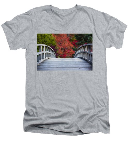 Men's V-Neck T-Shirt featuring the photograph Cypress Bridge by Sebastian Musial