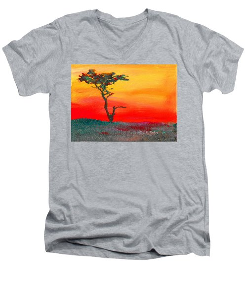Cypress Sunrise Men's V-Neck T-Shirt