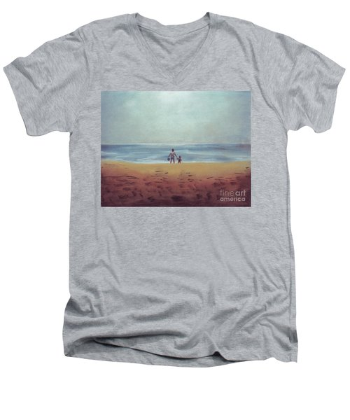 Daddy At The Beach Men's V-Neck T-Shirt