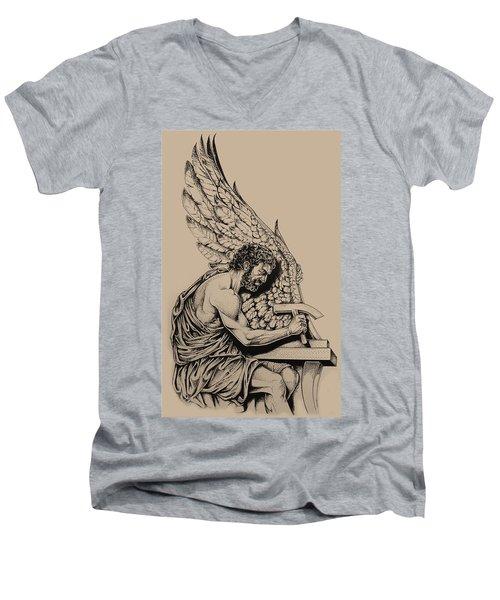 Daedalus Workshop Men's V-Neck T-Shirt by Derrick Higgins