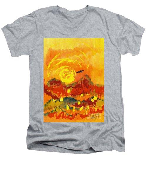 D'agony Men's V-Neck T-Shirt