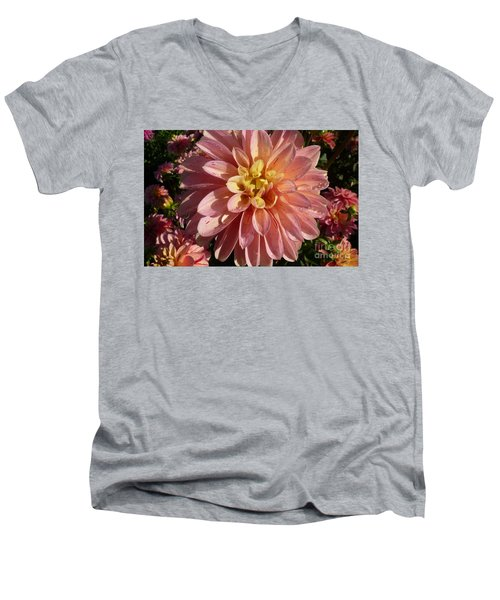 Dahlia October Men's V-Neck T-Shirt by Susan Garren