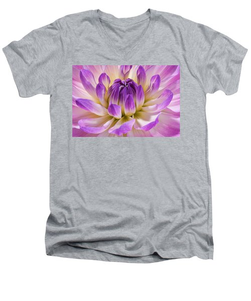 Dahlia Men's V-Neck T-Shirt