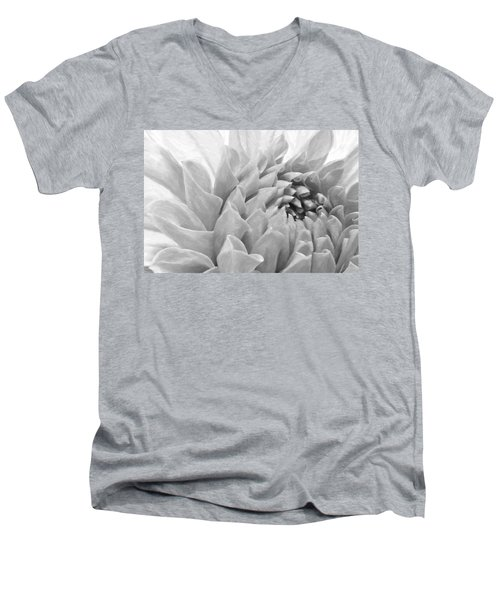 Dahlia Petals - Digital Pastel Art Work  Men's V-Neck T-Shirt by Sandra Foster