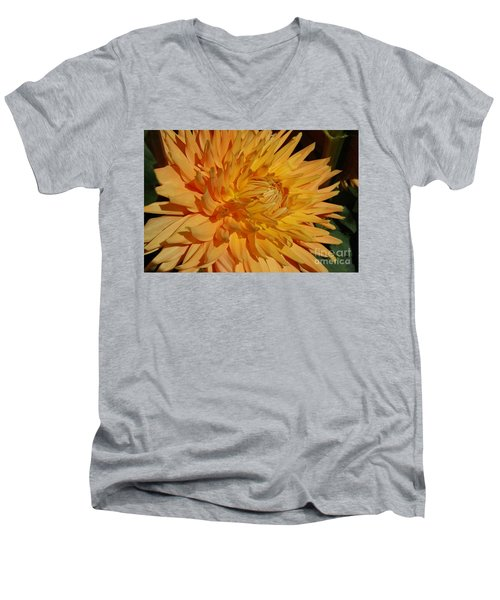 Men's V-Neck T-Shirt featuring the photograph Dahlia Xiii by Christiane Hellner-OBrien
