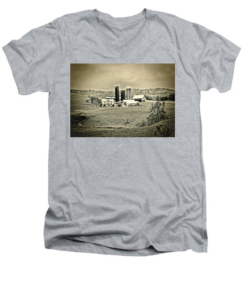 Dairy Farm Men's V-Neck T-Shirt by Denise Romano