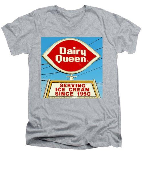 Dairy Queen Sign Men's V-Neck T-Shirt