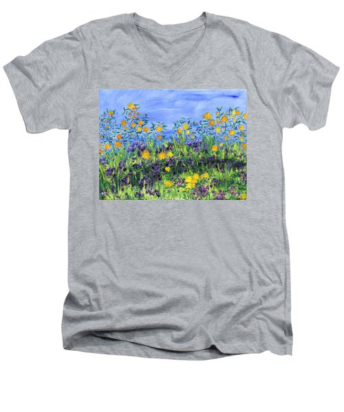 Daisy Days Men's V-Neck T-Shirt