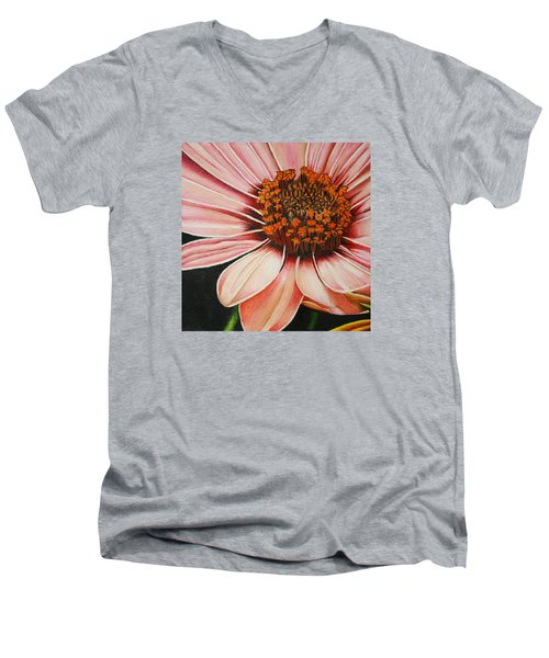 Daisy In Pink Men's V-Neck T-Shirt by Bruce Bley