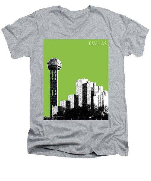 Dallas Skyline Reunion Tower - Olive Men's V-Neck T-Shirt