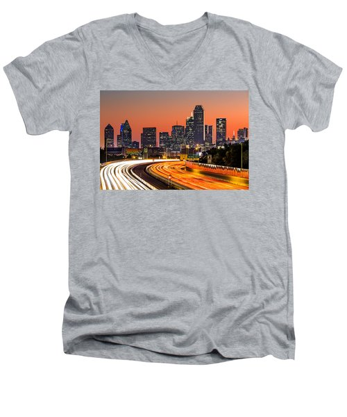 Dallas Sunrise Men's V-Neck T-Shirt