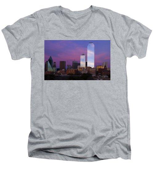 Dallas Sunset Men's V-Neck T-Shirt