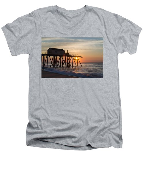 Men's V-Neck T-Shirt featuring the photograph Damaged by Kristopher Schoenleber